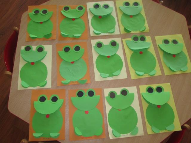 Zielona żabka – praca plastyczna – grupa Pszczółek | Przedszkole ...