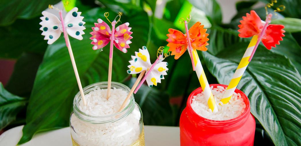 Kwiaty I Motyle Z Makaronu Praca Plastyczna W Grupie Pszczółek