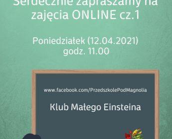 Eksperymenty – zajęcia online – 12.04. godz.11:00 – Zapraszamy